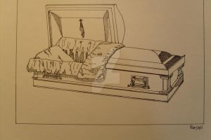 The Casket, our end? by LVMysticmirrorsart