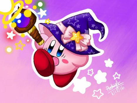 Team Kirby Clash - Beam Mage Kirby by Plucky-Nova