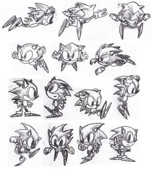 Sonic the Hedgehog pencil 1 by foxheadTails