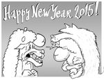 Happy new year of the sheep by fan4battle