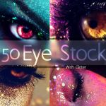Eye stock with glitter v1 by Desert-Winds
