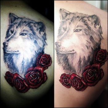Wolf Tattoo by MartaMS