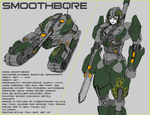 SMOOTHBORE // Transformers OC by Shorjok