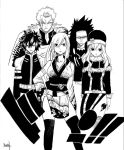 Fairy Tail escena Manga tinta china by hirokiart
