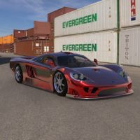 Sports Car in a Container Park by VanishingPointInc