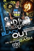 DJ Locorious Bday Party Flyer by stevisimo