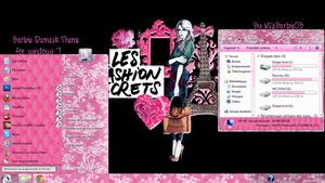 Barbie Damask Theme for Windows7 by mllebarbie03