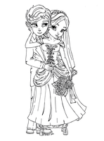 Bride 'n Groom by JadeDragonne