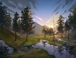 Background Speedpaint by Pheoniic