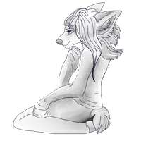 Free Sitting Anthro Pose by Daqn