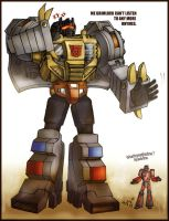 Grimlock and Wheelie by kykywka