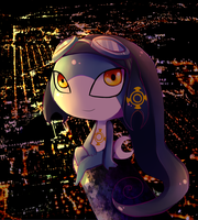 Night in the city by Yamio