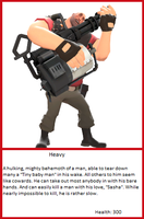 TF2 Trading Card: Heavy by UltimaWeapon13