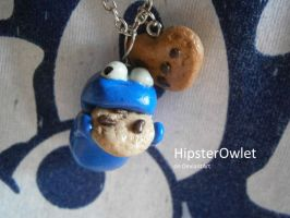 Cookie Monster Necklace by HipsterOwlet