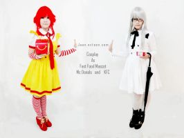 Mc donals and KFC Cosplay by Jaanlala