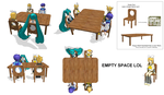 MMD project p1 Table and chair by brsa