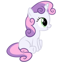 Sweetie Belle Sitting by konylice