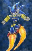 Mecha Sonic by Pink-Shimmer