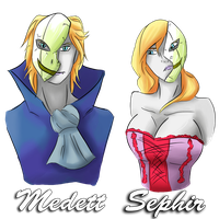 Sephir and Medett by Sorrow35