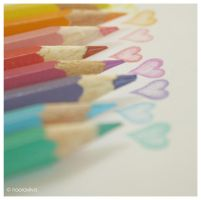 colourful hearts by nooraviiva