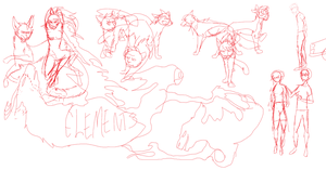 Elements Poster Sketch by Rockfire1022