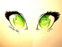 Didn't You Flash Your Green Eyes at Me by xBeyondTheGalaxies