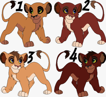 KovuxVitani Cubs Adoptables - CLOSED - by Soufroma