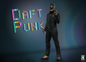 Daft Punk: Guy Manuel by AhmedAlnaqbi
