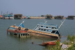 Abandoned fishing boats by werneri