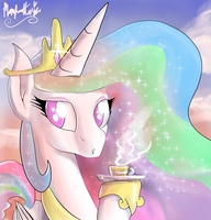 Celestia Tea Time by manfartwish
