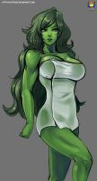 Commission She-Hulk by Kyoffie12