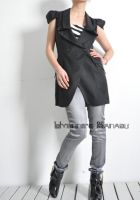 Black Virgin Wool Vest 7 by yystudio