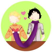 Sherlock and John: Knitting by ice-cream-skies