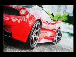 Ferrari 458 (Prismacolor Pencils) by Ant787