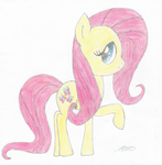 Fluttershy drawing by DemoMare
