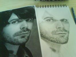 Simon Neil in progress by Misseflurry