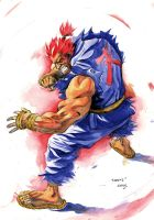 Gouki Watercolor 1 by ChaseConley