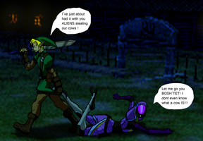 When Link met Tali by RailgunTogepi