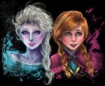 Anna and Elsa Realism ~ by CharlightArt
