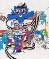 Rainbow Dash's Flying Family Circus by 13foxywolf666