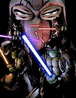 Teenage Mutant Jedi Turtles by lavhoes