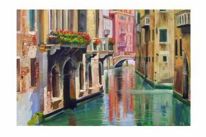 Venice: Oil Painting by BoMuffin