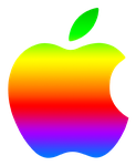 Colored Modern Apple Logo 2 by TheGreenMachine987