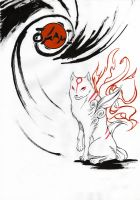 amaterasu drawing 2 by ALKEMANUBIS