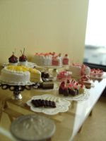 Miniature Dessert Table 1-12 by Snowfern