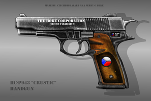 Fictional Firearm: HC-P943 [Crustic] Pistol by CzechBiohazard