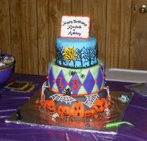 Halloween Birthday Cake by AMAYA2007