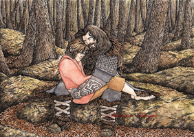 Thorin and Bilbo by Autumn-Rouge