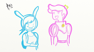 Fionna and Prince Gumball by baddesire