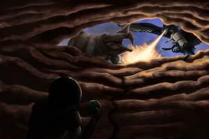 Contest Entry: I knew I didn't like caves. by SabarielLocien